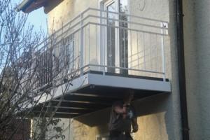 Balkonneubau an älteres Anwesen