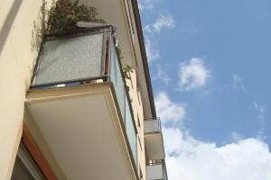 Teilsanierte Balkone